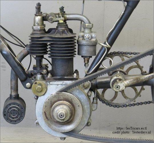 Werner, moteur bicylindrique, 1905