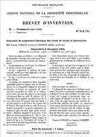 brevet Lurquin et Coudert 1905, suspension. Miniature