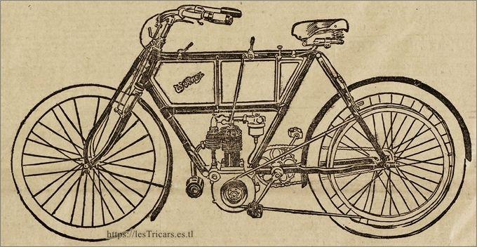 motocyclette Werner bicylindre 1905, dessin