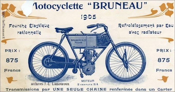 motocyclette Bruneau / Tours, 1905