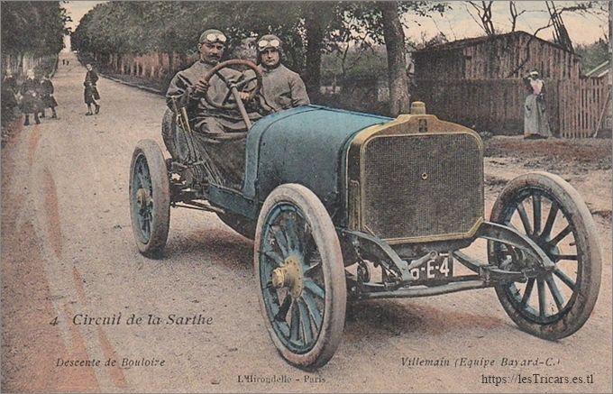 1906, Alfred Villemain sur une voiture Clément-Bayard
