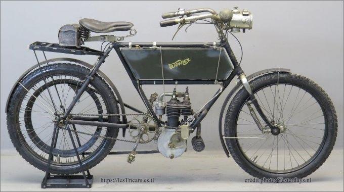 Motocyclette Werner, 1906, photo