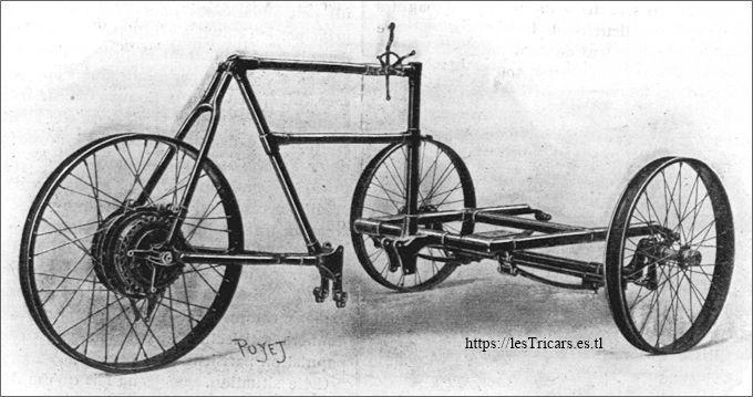 mototri Contal type A 1906, le châssis