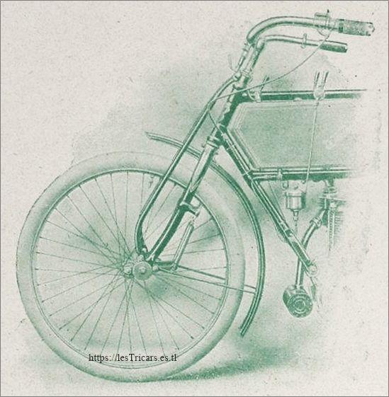 La fourche élastique 1906, moto Werner Montagnarde 3 HP