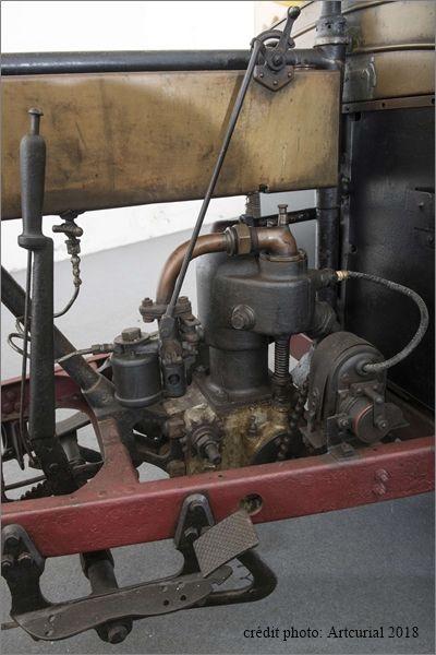 Mototri Contal, modèle 1907, photo moderne, le moteur