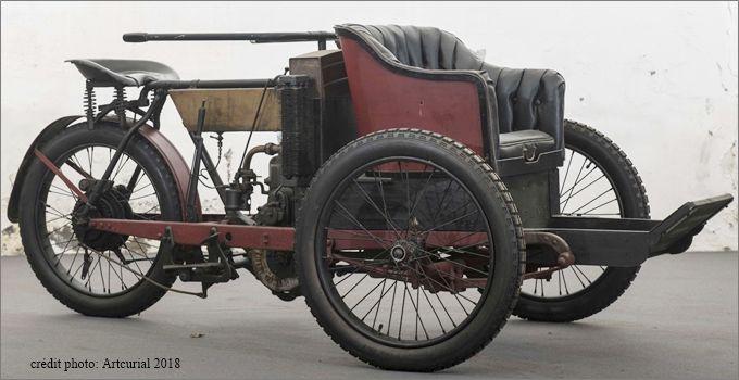 Mototri Contal, modèle 1907, type B, photo moderne