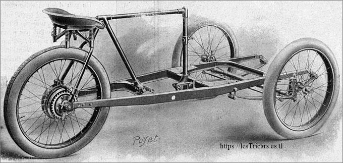 Mototri Contal, modèle 1907, châssis