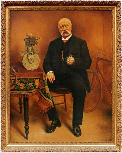 Florimond Lurquin, tableau à huile 1909