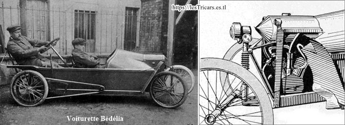 cyclecar Bédélia, suspension