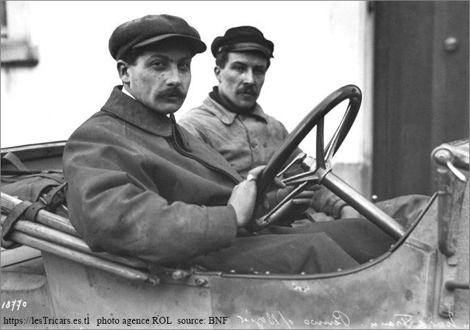 Pernoo sur voiturette Bozier, Tour de France 1912