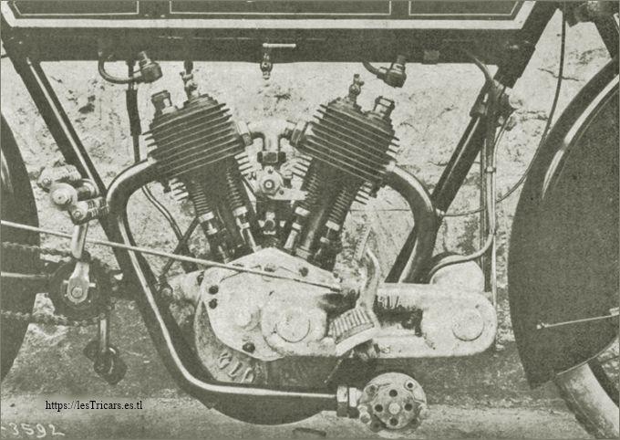 1913, moteur 2 cylindres Lurquin&Coudert
