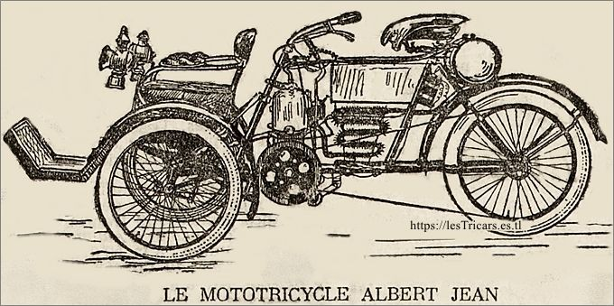 Le tricar Albert-Jean, deuxième version. Dessin