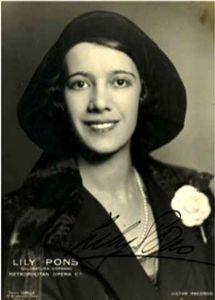 Portrait de Lily Pons