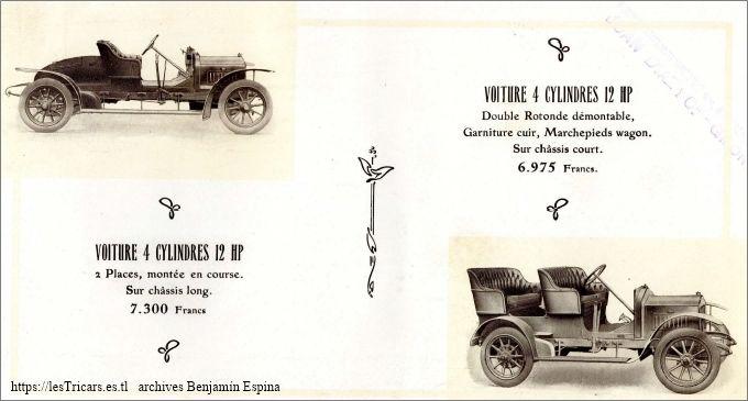 catalogue Ivry 1909-1910: Voitures et voiturettes