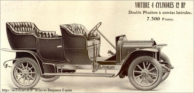 Ivry, voiture 4 cylindres 12 HP