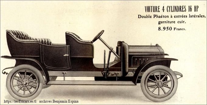 Ivry, voiture 4 cylindres 16 HP