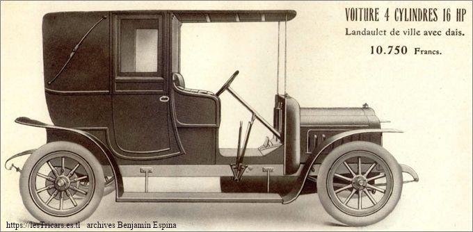 Ivry, voiture 4 cylindres 16 HP, Landaulet de ville