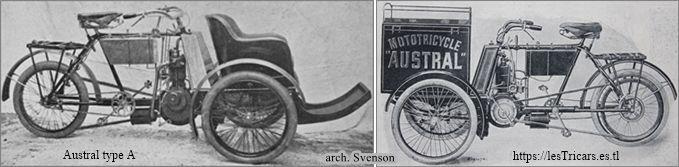 Austral tricar type A, deux vues