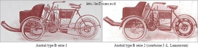 Austral tricar type B, série 1 et série 2