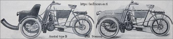 Austral tricar type B, deux vues