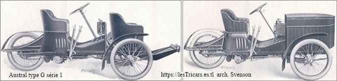 Austral tricar type G, deux vues