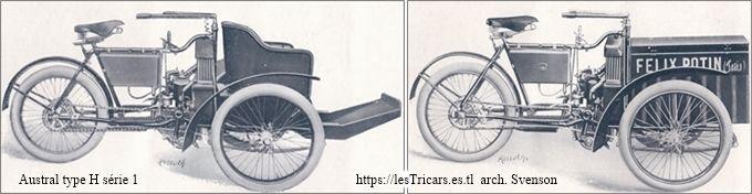 Austral tricar type H, deux vues