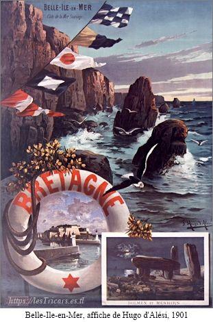 Belle-Ile-en-Mer, affiche de Hugo d'Alési, 1901