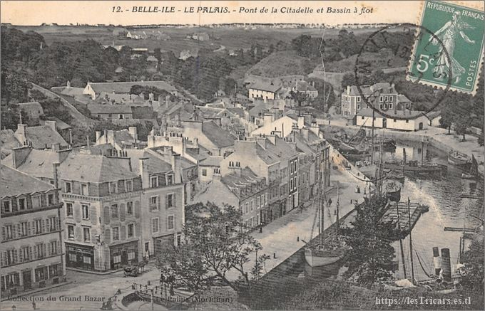 Belle-Ile-en-Mer, le Palais. Pont de la Citadelle