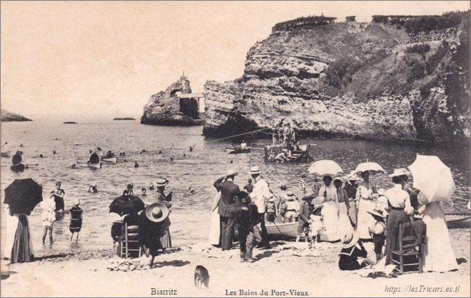 Biarritz, Les Bains du Port Vieux, 1905