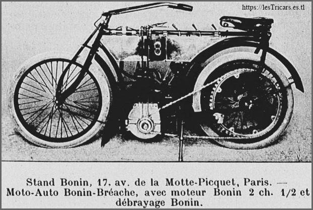 Motocyclette Bonin, 1904