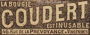 publicité de 1909 pour la bougie Coudert