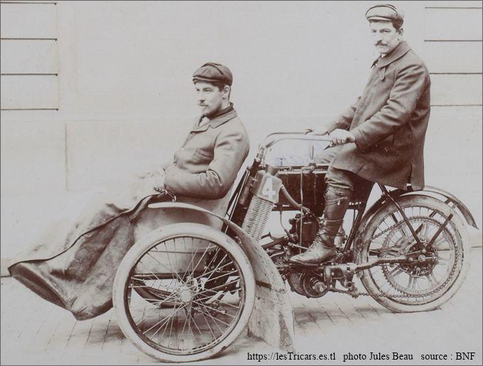Tour de France 1906: Bucquet sur tricar Griffon