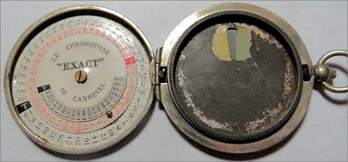 Photo d'une actinomètre appelé Le Chronopose Exact de Cannevel