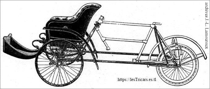 Lurquin-Coudert, tricar 1906, dessin du chassis