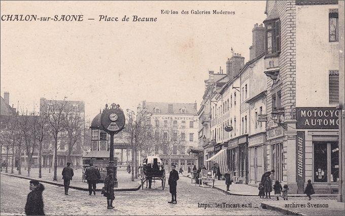Chalon-sur-Saône, Place de Beaune, magasin de Saclier