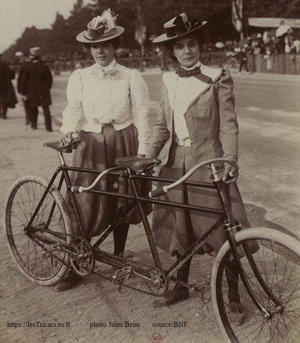1899, tandem Chanon. Mlle Darghyle