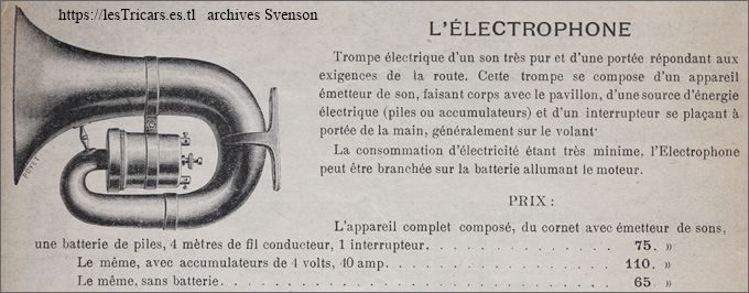 Publicité pour l'Electrophone inventé par Contal