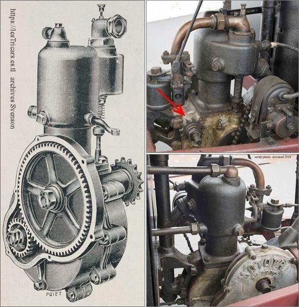 moteur du mototri Contal, moteur Villemain