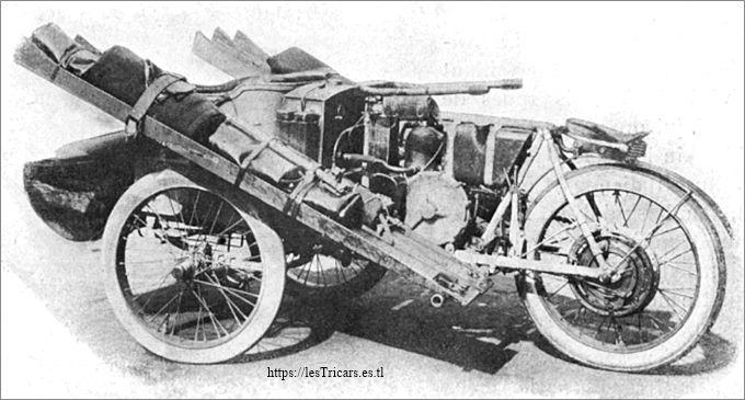 Paris-Pékin 1907: Tricar Contal équipé pour le raid