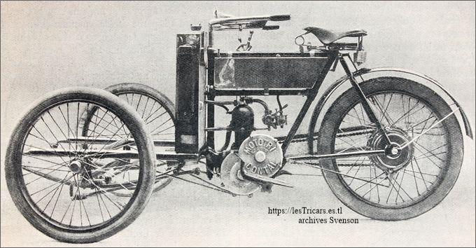 le mototri Contal 1906 sans caisse