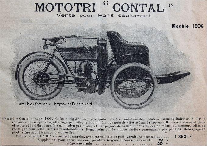 mototri Contal type A 1906