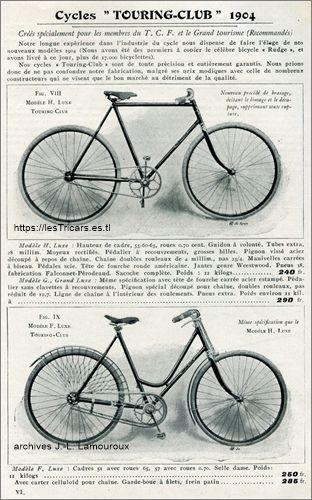 Doué Lyon, gamme de bicyclettes 1904
