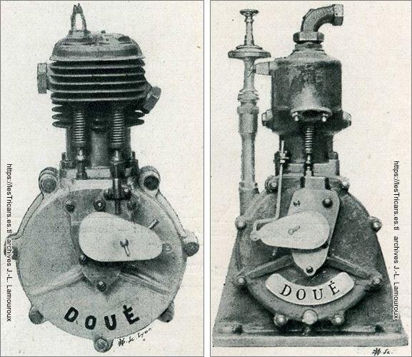 moteurs Doué, monocylindre pour motocyclettes et moteur stationnaire