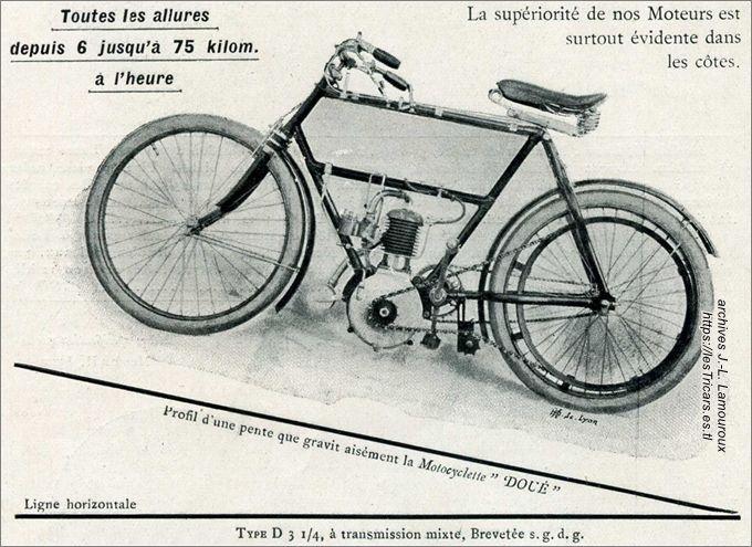 motocyclette Doué type D 1904