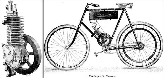 1903 moteur Garreau et l'Autocyclette Garreau