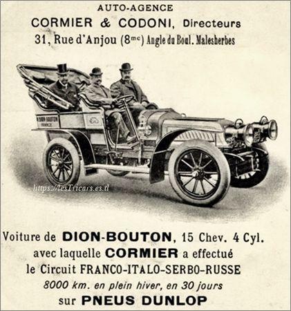 Auto-agence Cormier et Codoni 31 rue d'Anjou, Paris.