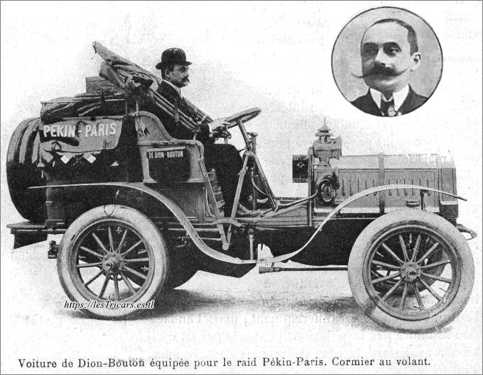 Georges Cormier, Pékin-Paris 1907 sur voiture De Dion Bouton