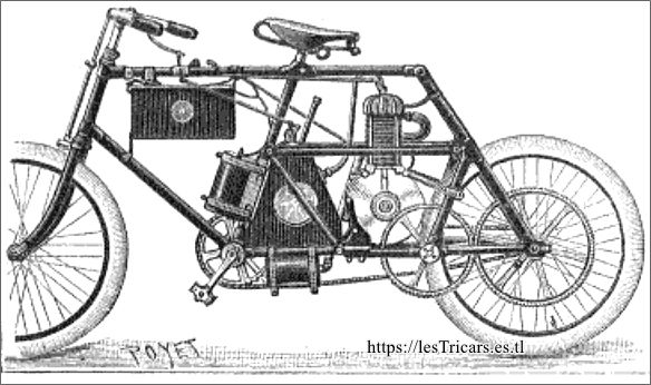 motocyclette Rivierre et Girardot 1899, dessin