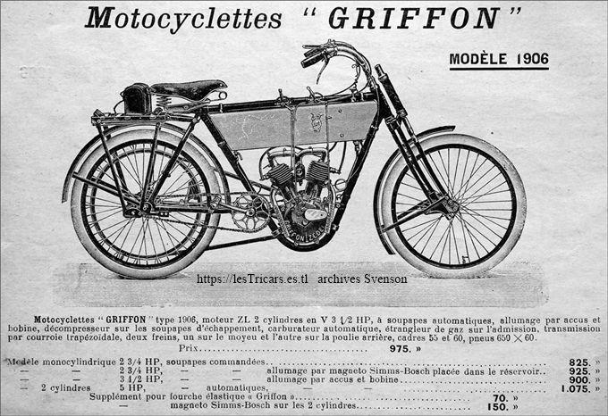motocyclette Griffon 1906