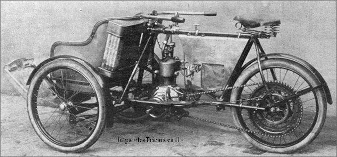 le châssis-cadre du tricar Griffon 1906